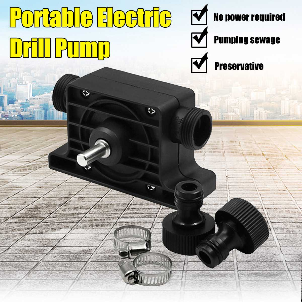 Portable Self-Priming Transfer Electric Drill Water 8mm Pump Mini Submersibles Motor Ultras Home Garden Centrifugal Pump