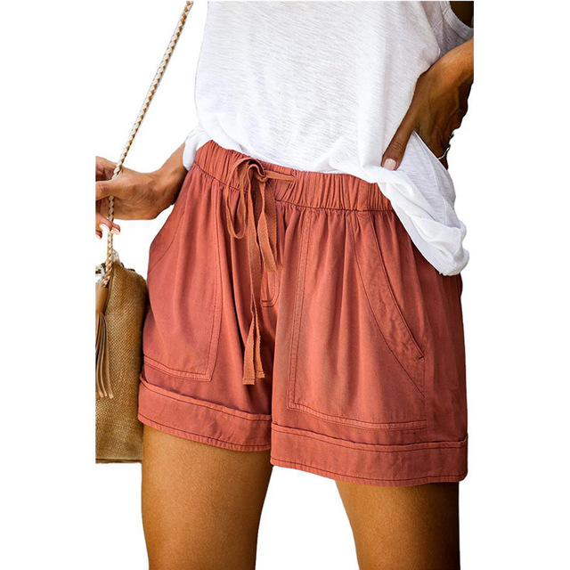 Casual Shorts Women New Summer High Waist Lace Up Pocket Loose Wide-leg Shorts Ladies Leopard Floral Shorts Plus Size 5XL Shorts 6