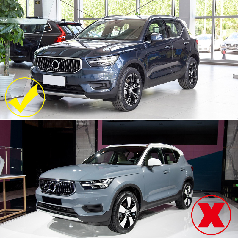 For Volvo XC40 2018-2020 Front Fog Light Lamp Cover Trim Chrome Car Styling Auto Accessories 2pcs
