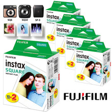 Filme quadrado instax borda branca foto papel (10-100 peças) para fujifilm sq10 sq6 sq1 sq20 filmes instantâneos câmera compartilhar SP-3 impressora