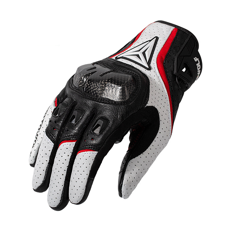 Image 3 - Полный палец овчины мотоциклетные перчатки водонепроницаемый  дышащий Скутер Чоппер перчатки для верховой езды анти осенние кожаные  перчатки для мотокроссаПерчатки   -