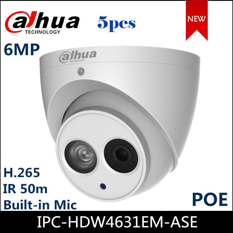 Dahua 6mp câmera ip IPC-HDW4631EM-ASE ir 50m câmera de segurança built-in mic ir globo ocular câmera de rede poe