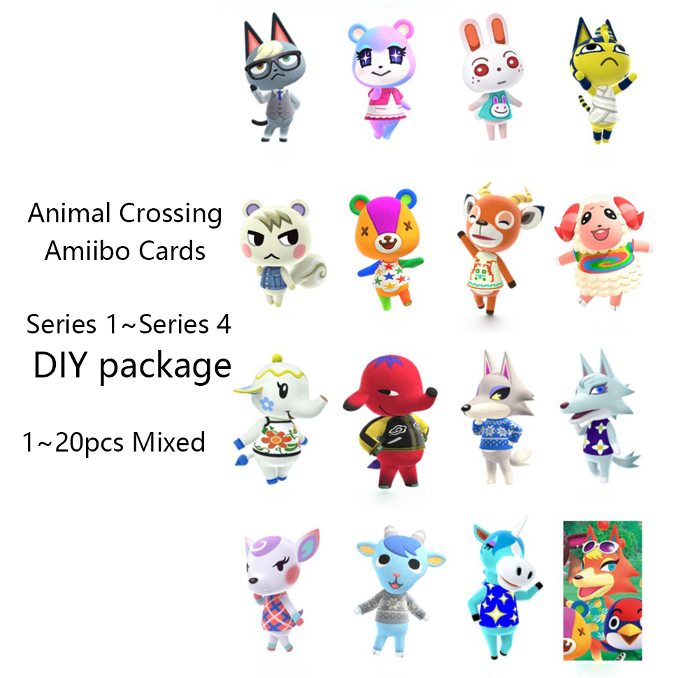 Hot DealsAmiibo-Cards Switch Bundle Animal 3DS for NS Crossing-Card Mixed