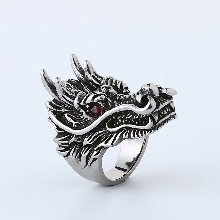 Retro-air-air Faucet Anti-body Finger Ring, Man's Titanium Steel Ring, Ring-proof Article, Finger Tiger Weapon, Boxing Ring
