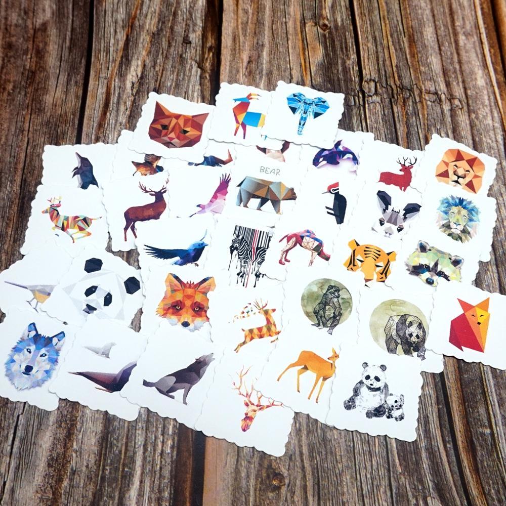 35pcs Cute Animals Waterproof Stickers Guitar Suitcase Skateboard Stickers Girls Boys Children Funny Sticker Kids Classic Toy