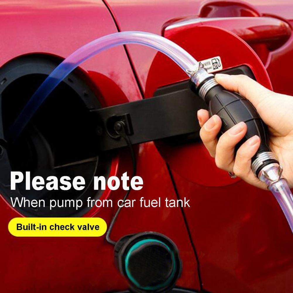 Dropshipping Car fuel tank sucker air bag simple manual pumping pump  portable self driving car pumping tube oil barrel