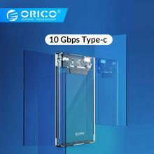 Прозрачный чехол ORICO 2,5 ''для жесткого диска type C USB3.0 USB3.1 Gen2 с поддержкой протокола UASP с кабелем type-C
