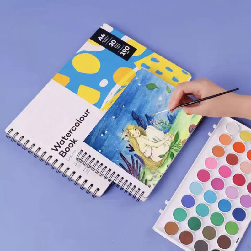 A3 / A4 / A5 Water Coloring Book Sketchbook For Watercolor Square Paper Drawing Pad 300 Gr Watercolor Paper Drawing Notebook