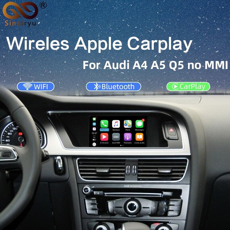 Sinairyu беспроводное решение для видеоинтерфейса Apple CarPlay для A4 A5 B8 Q5 без MMI с концертной симфонической моделью Audi