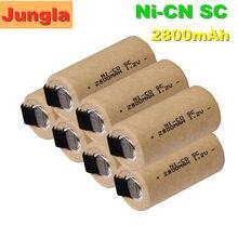 2-20 sztuk SC Nicd baterie 1.2v 2800mah Sub C ni-cd akumulator SC Batteria do wkrętaki elektryczne wiertarki elektronarzędzia