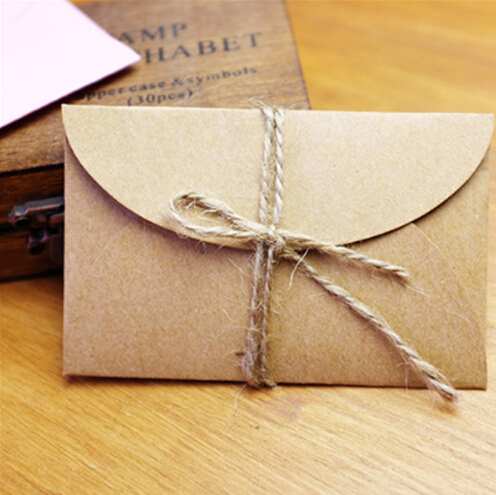 50pcs/lot Handmade Mini Craft Blank Paper Envelopes DIY Multifunction Gift Envelope For Card Storage Drop Shipping