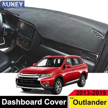 Xukey Dashmat mata na deskę rozdzielczą Pad deska rozdzielcza pokrywa Dash Cover dla Mitsubishi Outlander 2013 2014 2015 2016 2017 2018 2019 tanie i dobre opinie MISIMa CN (pochodzenie) Włókien syntetycznych Pole karne z lewego steru