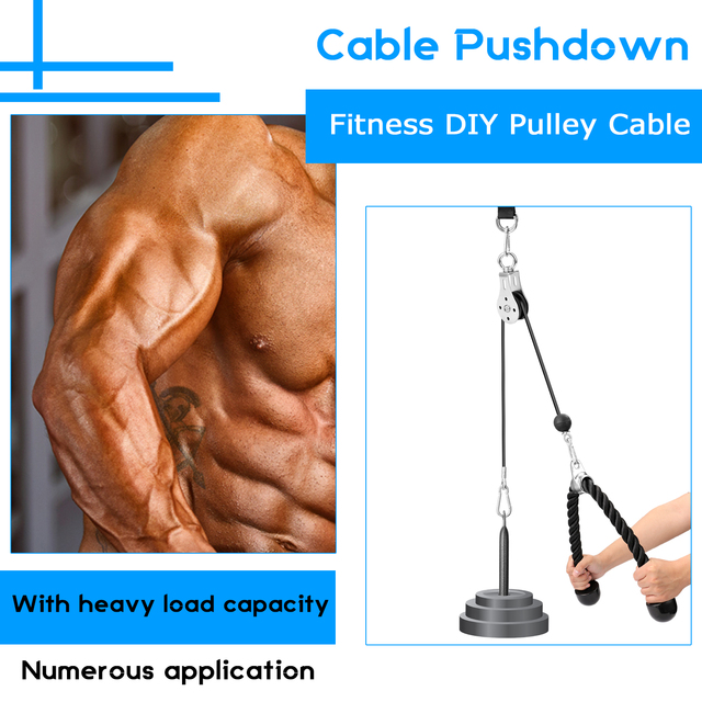 Bandas Elasticas Fitness Equipment DIY Pulley Cable Machine Attachment System Lifting Arm Biceps Triceps Blaster Hand Strength 3