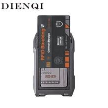 DIENQI RFID Metal Men Wallets Card Holder Male Tactical Smart Slim Thin Wallets Small Mini Man's Purse Magic Walet for men 2021