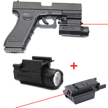 Red Dot Laser Sight Pointer Hunting Airsoft Tactical LED Flashlight Combo Sight Optics for Glock 17 19 and 20mm Rail hand gun vector optics mini sphinx red dot sight pistol rear mount base for glock 17 19