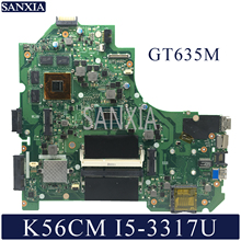 KEFU K56CM Laptop motherboard for ASUS K56CM K56CB K56C S550CM S550C original mainboard I5 3317U GT635M