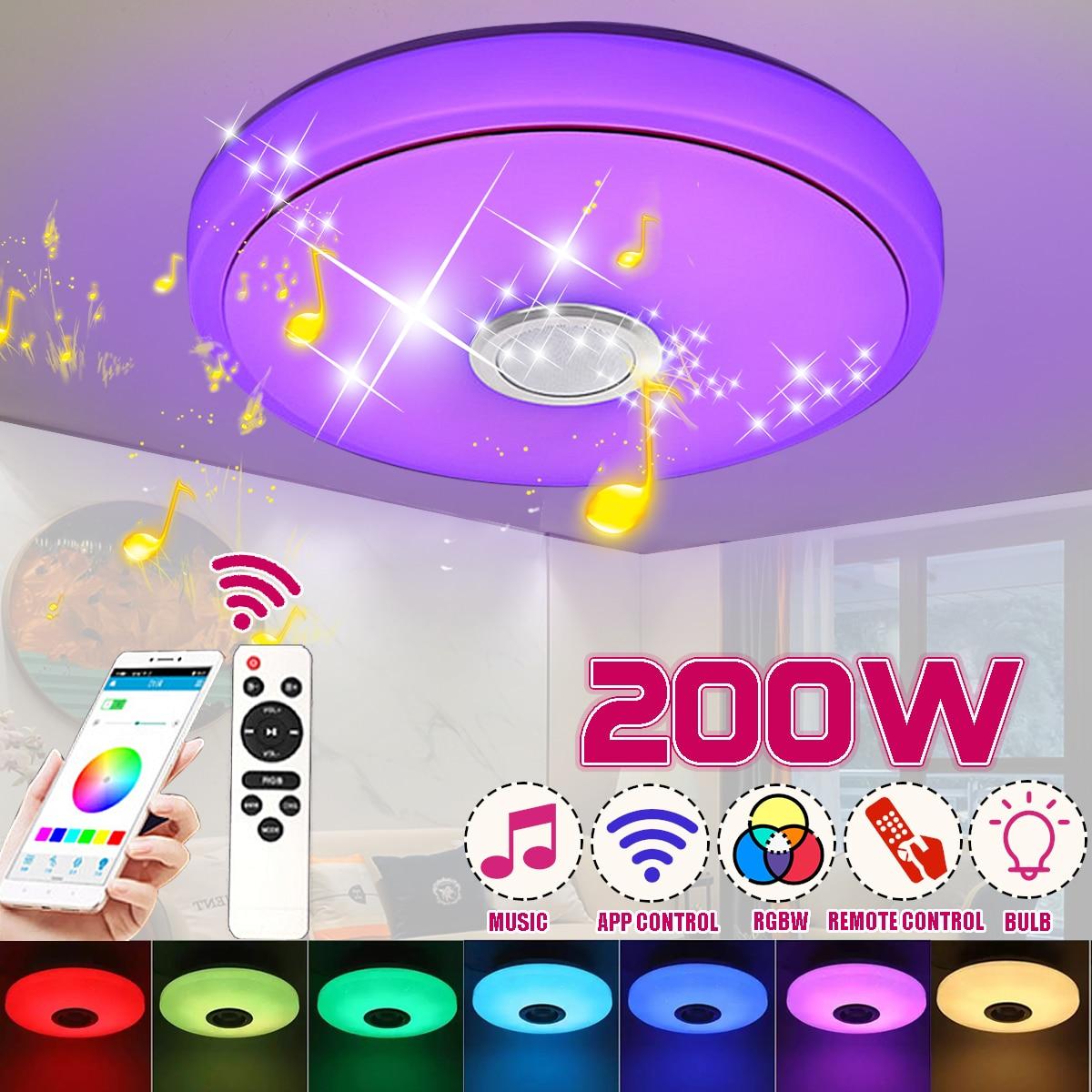 Yeni 200W LED RGB akıllı müzik tavan lambası APP/uzaktan kumanda 220V Modern bluetooth dim renkli işık