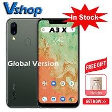 """UMIDIGI A3X küresel sürüm Android 10 3GB + 16GB 5.7 """"Smartphone çift arka kamera 13MP Selfie MT6761 çift 4G üçlü yuvaları 3300mAh"""
