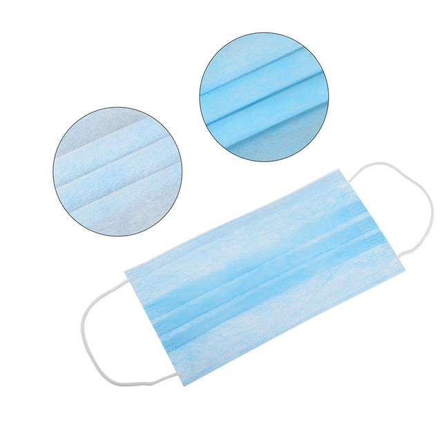 Disposable mask 3-Layer Non-woven IN STOCK CE Certification Disposable Soft Breathable Flu Hygiene Face Mouth Mask Fast Delivery 4
