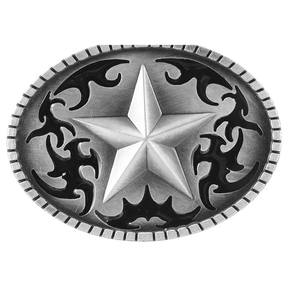 Western Cowboy Belt Buckle Pattern Star Metal Sports Men And Women Belt Buckle