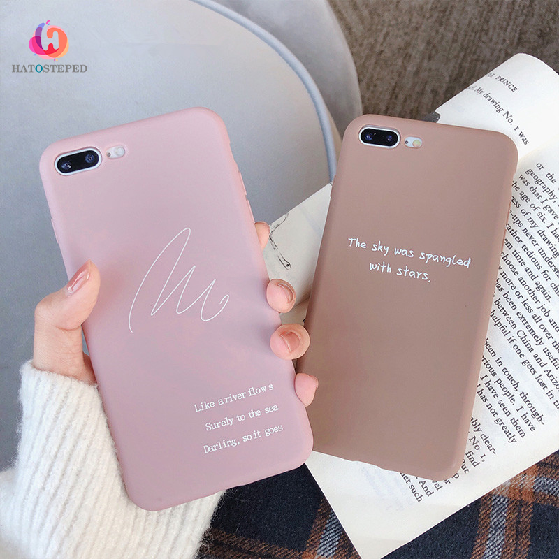 For Iphone 7 8 Plus 6s LOVE Pattern Simple Text Cover Case For Iphone X XS 6 6s 7 7plus 8 8plus Soft TPU Silicone Phone Case