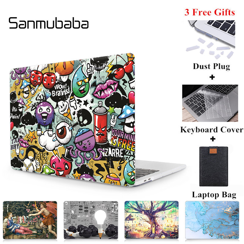 Sanmubaba Case For Macbook Air Pro Retina 11 12 13 <font><b>15</b></font> 16 <font><b>inch</b></font> With Touch Bar Cover Custom Design <font><b>Laptop</b></font> Case <font><b>Sleeve</b></font> A2141 A2159 image