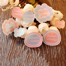 16Pcs sheet Stickers Floral Round Scrapbooking Memo Stickers Paper Lovely Thank You Labels Stickers Decorative Paper Stickers tanie tanio KOQZM CN(Origin) Thank You paper stickers 6 YEARS OLD as pictures shown Other 2 3*2 3cm