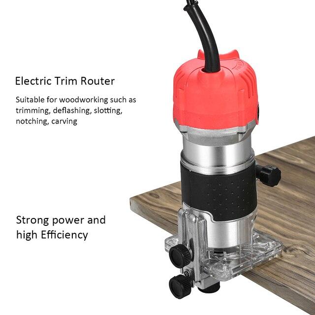 220V 800W garniture routeur 30000r/min tondeuse électrique avec Guide de bord de Base Transparent pour le travail du bois coupe rainurage entaillage