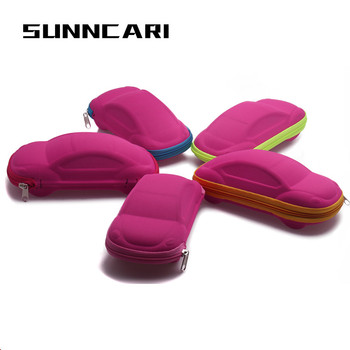 Newest Kids Children Car Shaped Glasses Case Toddler Fashion Portable Lightweight Case Box image