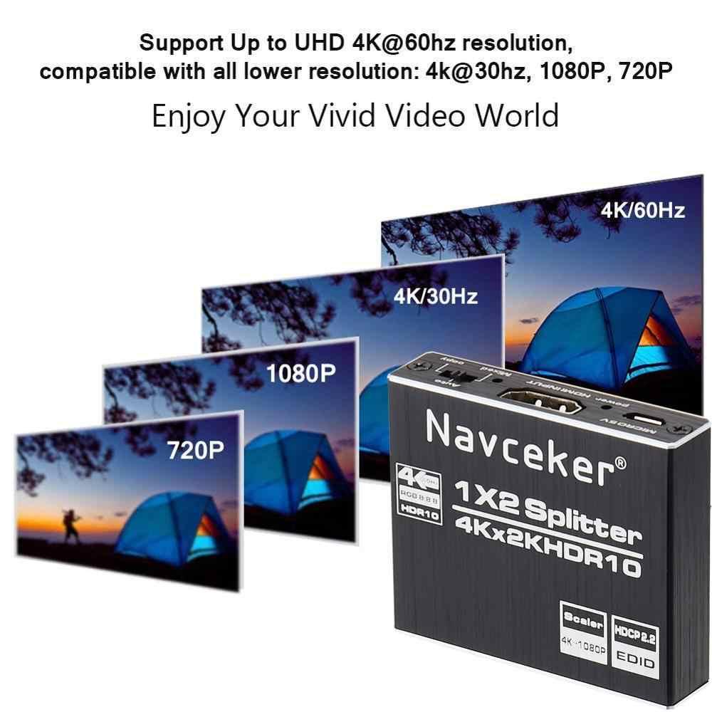 Divisor hdcp 2.0 hdr hdmi 2.0 divisor 4k hdmi2.0 para blu-ray dvd ps3 ps4 divisor hdmi 2.2 1x2 hdmi 2.0