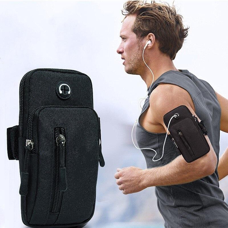 Рюкзак для бега, сумка для телефона, денег, ключей, спорта на открытом воздухе посылка с отверстием для гарнитуры, простой стиль, повязка на р...