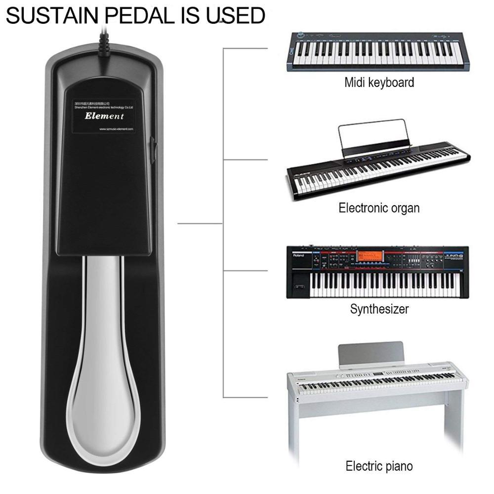 Клавиатура для пианино поддерживающая педаль для Casio Yamaha Roland электронная клавиатура электрическая педаль для пианино поддерживающая педал...