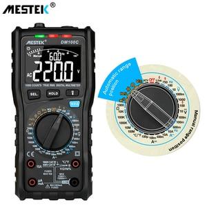 Image 5 - Mestek multímetro digital dm100, multímetro digital de alta velocidade inteligente, duplo núcleo t rms ncv, alarme de temperatura multímetros
