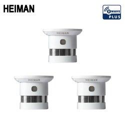 HEIMAN envío gratis Zwave alarma de protección contra incendios inteligente z-wave detector de humo 868MHz 3 uds Sensor de seguridad de alta sensibilidad Z wave