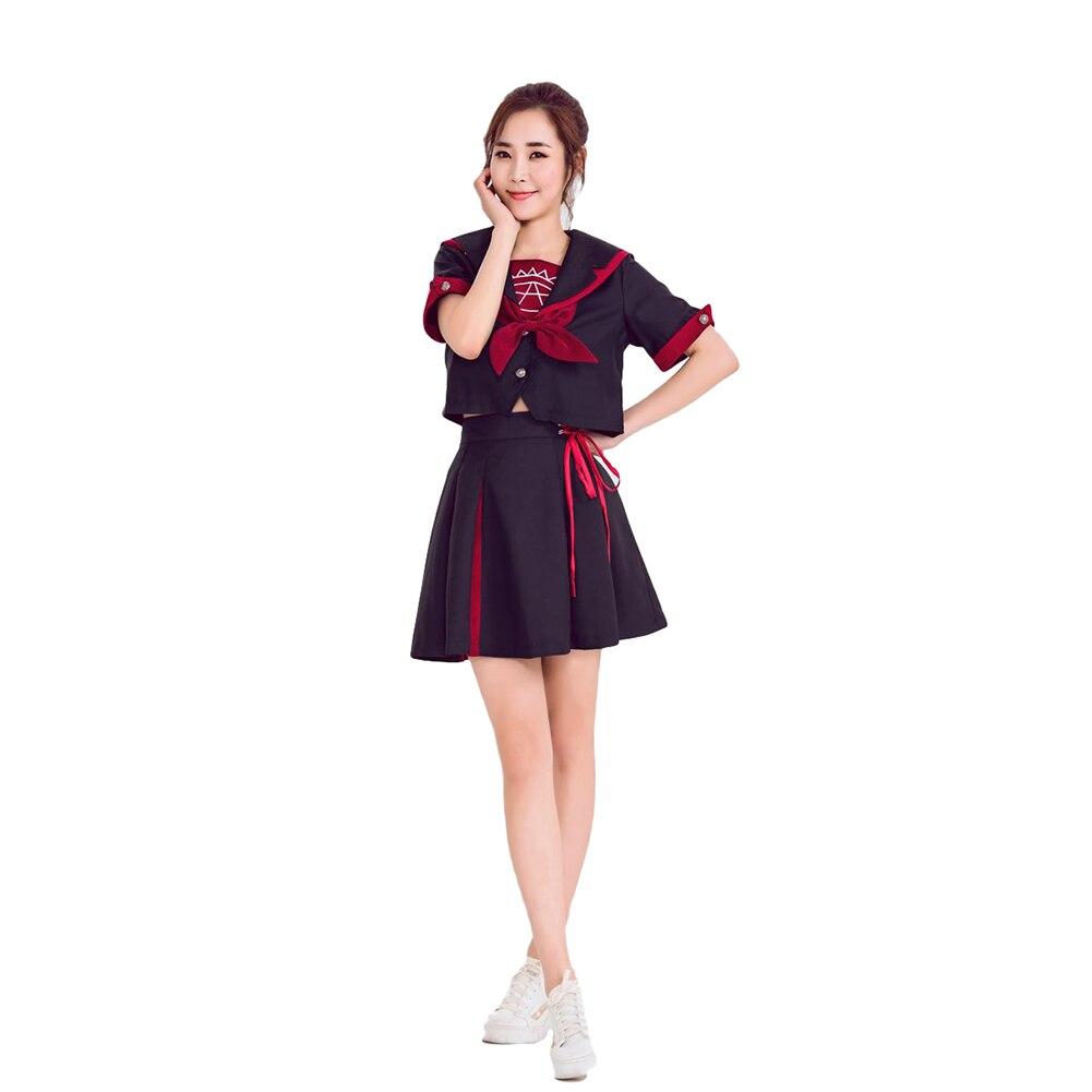 Brdwn Cardcaptor Sakura filles Sakura Kinomoto noir cercle magique Cosplay Costumes JK école uniforme étudiant vêtements marin costume