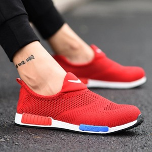 Image 2 - 2019 respirável aço nariz sapatos de segurança homem leve verão anti esmagamento piercing trabalho única malha tênis masculino e feminino