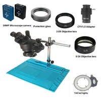 34MP Digital video HDMI USB mikroskop kamera 3.5X-90X simul-brenn Trinocular Stereo Mikroskop löten pcb telefon reparatur kit
