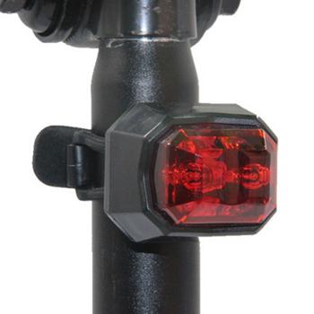 Światła rowerowe Led lampa tylna ostrzeżenie o bezpieczeństwie jazda na rowerze Taillight światło wodoodporne światło rowerowe rowerowe tylne światła rowerowe tanie i dobre opinie Bicycle LED Light Sztyca Baterii high quality 3 5*4CM