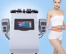 6 in 1 Vacuum Laser Radio Frequency RF 40K  Lipo laser Slimming Ultrasonic Liposuction Cavitation Machine For Spa vacuum rf skin care salon spa equipment 40k ultrasonic liposuction cavitation 8 pads