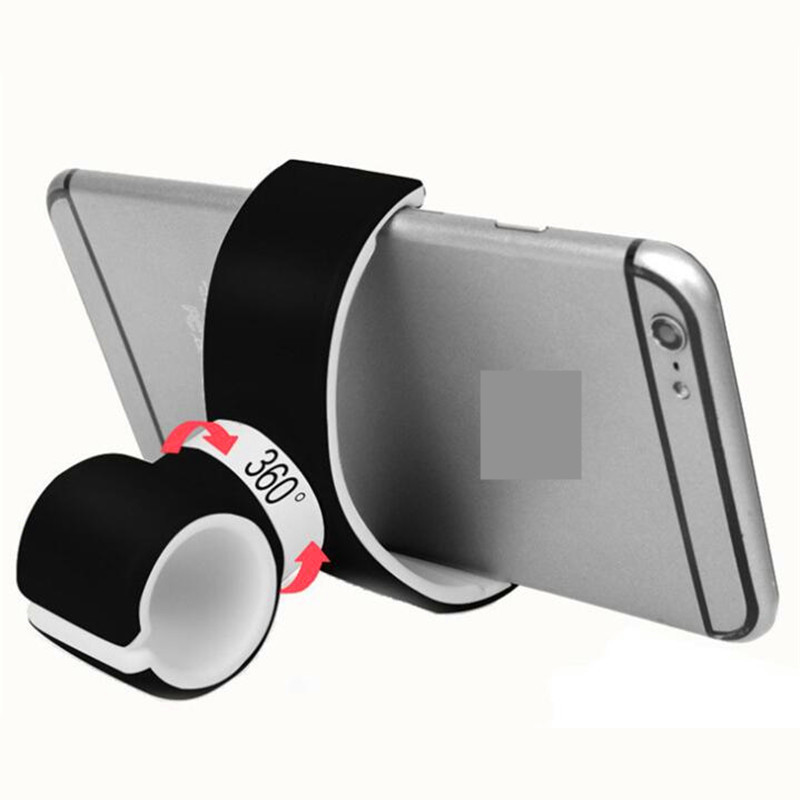 2020 New Rubber Mobile Phone Holder Universal Double C Type Mobile Phone Support For Air Vent Mount Car Holder Sport Bicycle