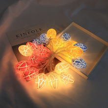 1.5M/3M Long Egg Shape LED Light String Cracked Balcony Bedroom Garland Home Easter Night Party Decoration