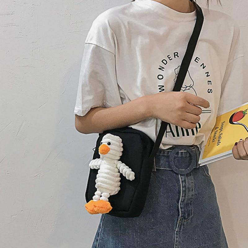 2019 Women\'s Bag Cute Cartoon Decoration Shoulder Bag Casual Concise Crossbody Bag