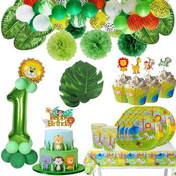 Birthday Jungle Party Baby Shower Animal Ballons Safari Theme Baloon Wedding Decor Kid Wild One Balloon
