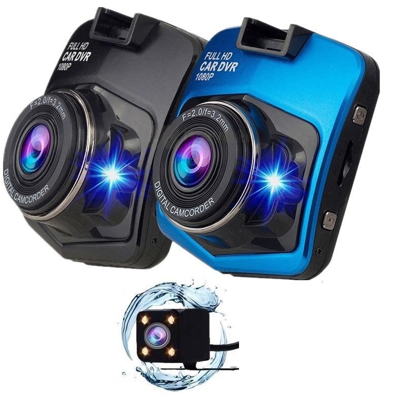 Auto DVR Full HD 1080P 2,4 Inch IPS Touch Video Recorder Kamera Dual Objektiv mit Rückansicht Kamera Auto registrator Dash Cam