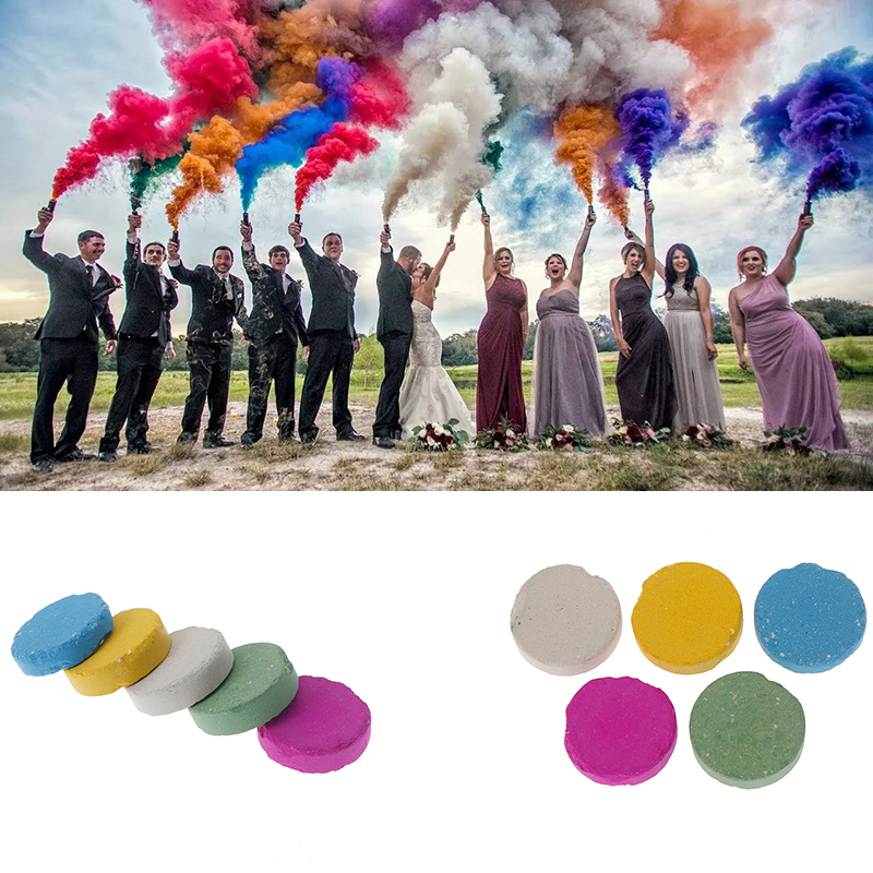 Colorful Magic Smoke For Party  Wedding  Rainbow Running Fire Tips Fun Toy Pyrotechnics Smoke  Magic Fire Fog Professional Pocke