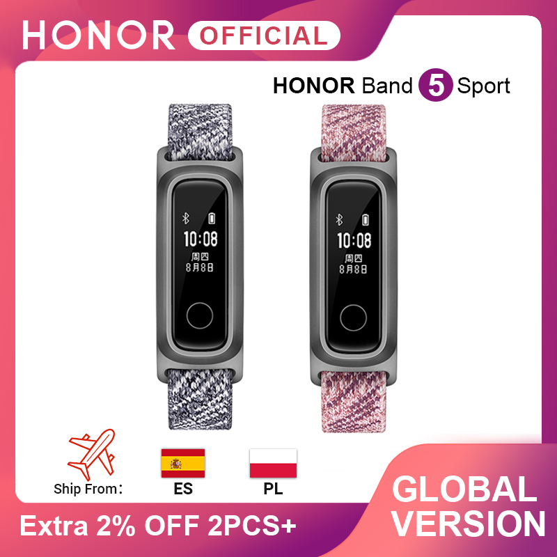 Global Version Honor Band 5 Sport Basketball  Huawei Smart Band Running Posture Monitor 2 Wearing Mode Water-Resistant 50 Meter