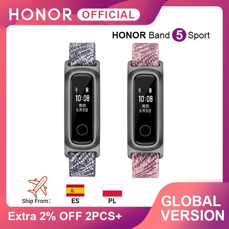 Version mondiale Honor Band 5 Sport basket ball Huawei Smart Band course Posture moniteur 2 Mode de port résistant à l