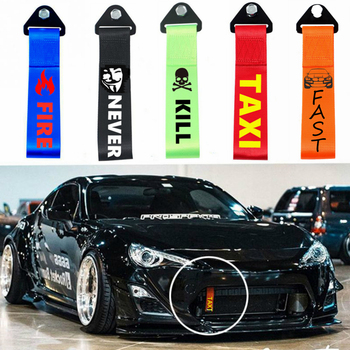 2020 New 26cm Towing Rope High Strength Nylon Trailer Tow Ropes Racing Car Universal Tow Eye Strap Tow Strap Bumper Trailer