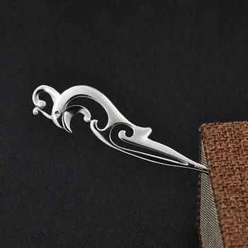925 Sterling Silver Hair Pins Hair Sticks Wood Animal Bird Phoenix Hairpins Headpiece Women Headwear Hair Accessories