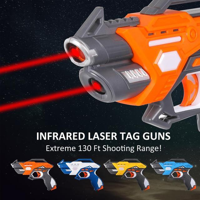 Pistolety zabawkowe laserowe na podczerwień pistolety zabawkowe Blaster Pistola zestawy bojowe gry interakcyjne dla dzieci sporty halowe na świeżym powietrzu dla dzieci